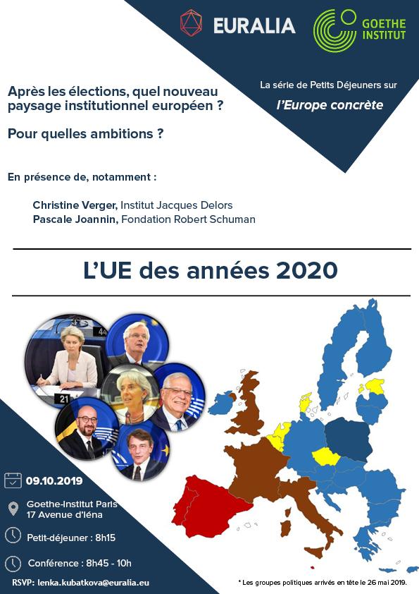 affiche avec la carte de l'UE